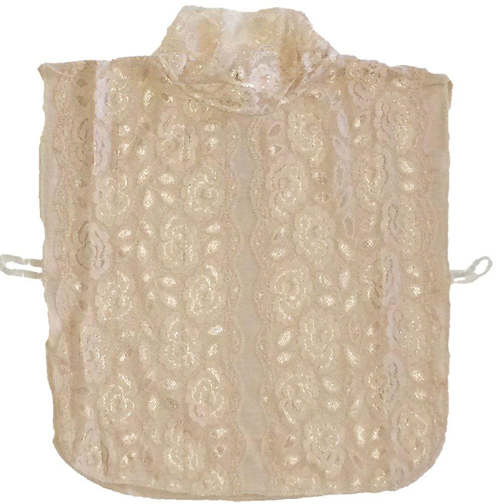 Arancia Lace Islamic Mock Neck Cover Dickey Fake Collar (Beige)