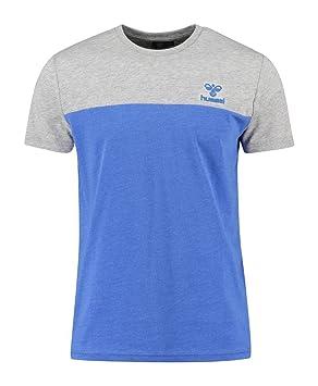 a50511087f79b9 Hummel Herren T-Shirt Classic Bee Victor Short Sleeve Tee Dazzling Blue  Melange L