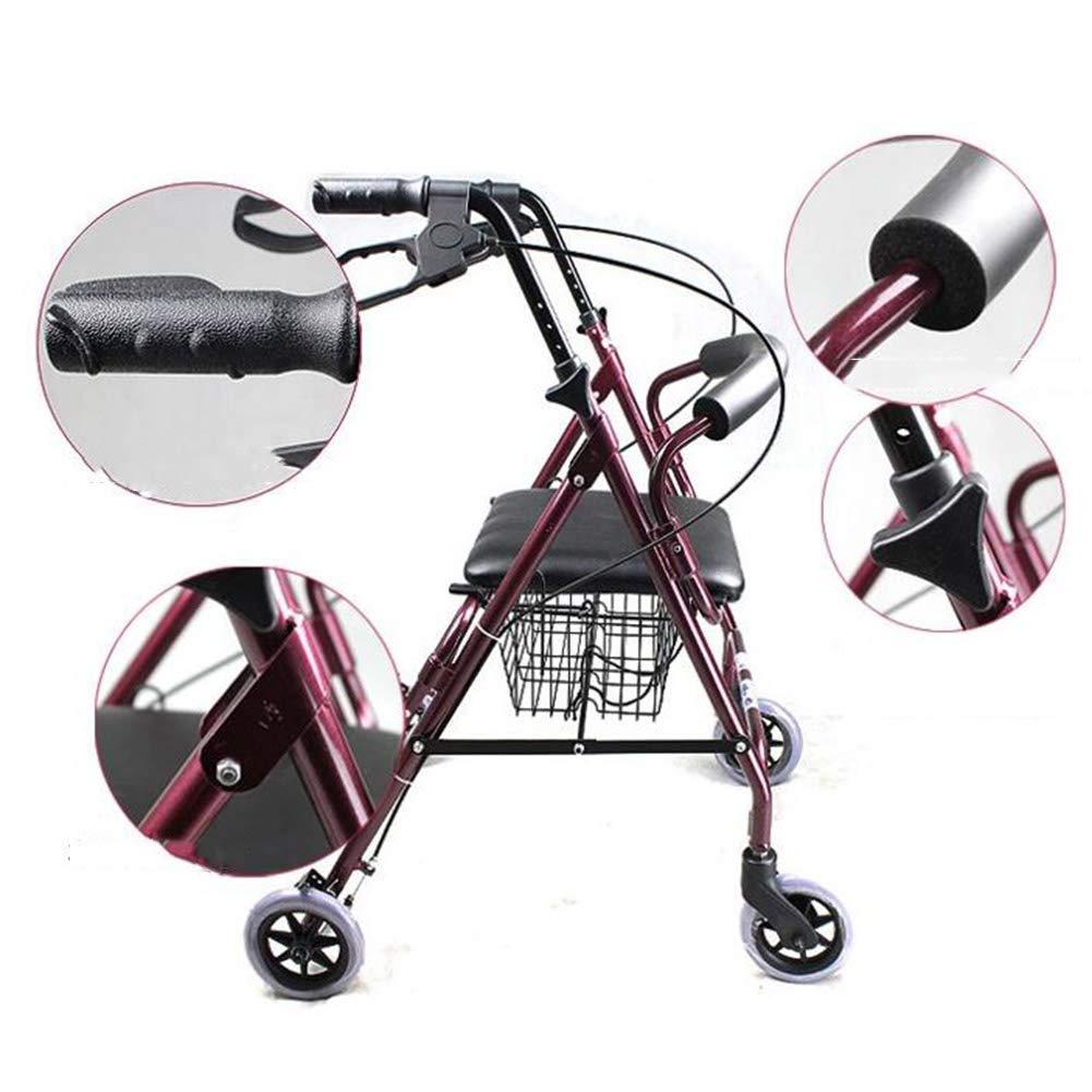 Alexzh_Rollator Ligero Caminante Plegable Sentado y ...