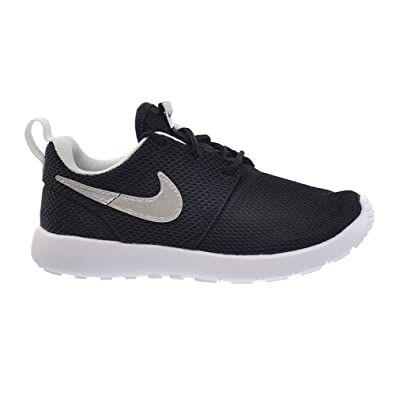 Nike Roshe One Preschool Kids Shoes Black/Metallic Silver-White 749427-021 (