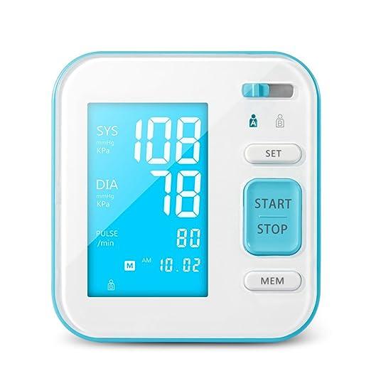 Perbeat Pulsómetro digital con brazo superior y monitor de presión arterial, para uso doméstico con pantalla LCD grande, detector de latidos de corazón ...