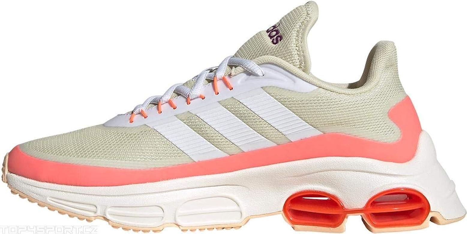 adidas QUADCUBE, Zapatillas de Running para Mujer, FTWR White/FTWR White/Signal Coral, 36.67 EU: Amazon.es: Zapatos y complementos