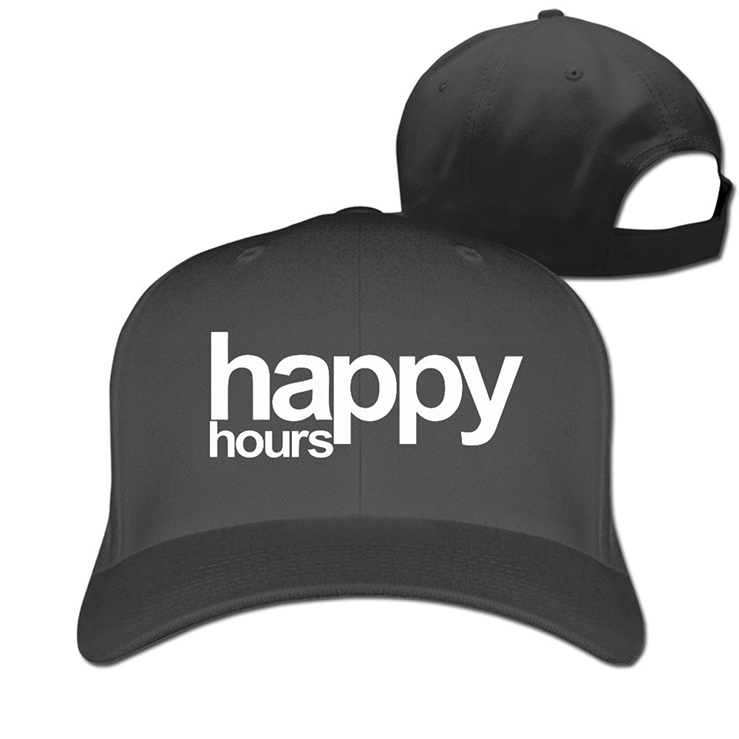 HNN Unisex Happy Hours Peaked Baseball Caps Hats