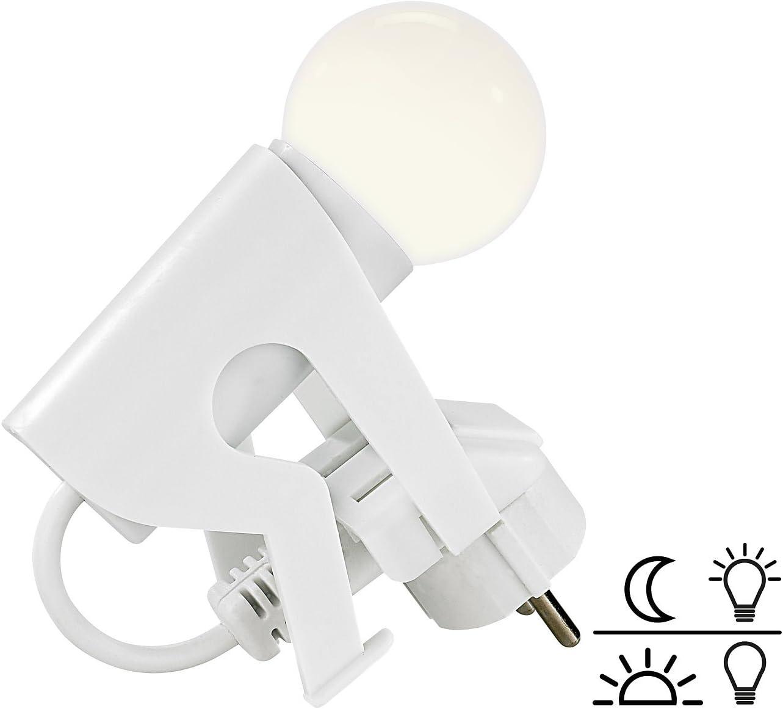 Originelles LED-Nachtlicht Lustiges Kerlchen mit D/ämmerungssensor Lunartec Steckerlampe Lampe Steckdose