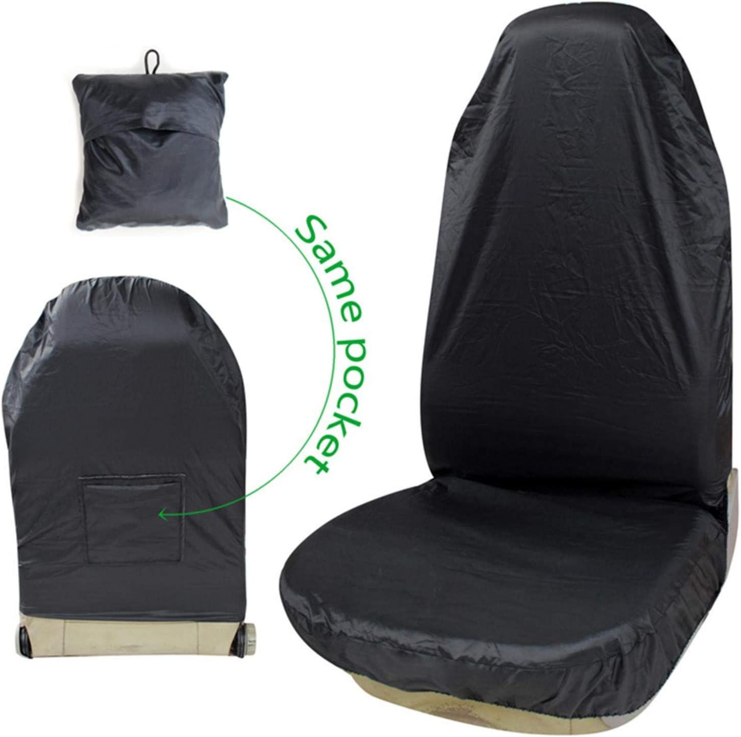 Water Resistant Bucket Seat Protector Waterproof Front Seat Covers Easy to Install and Remove Ultra-Light pet Waterproof and Dustproof Protector Easy to Clean