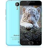 Cellulari in Offerta BlackView BV2000 Android 5,1 SIM Free Mobile Phones-5 pollici Grande Schermo-Doppia Fotocamera (8MP + 1MP)-MTK6735 Quad-Core-8GB ROM-2400mAh Batteria Telefoni Cellulari Fingerprint-Blu