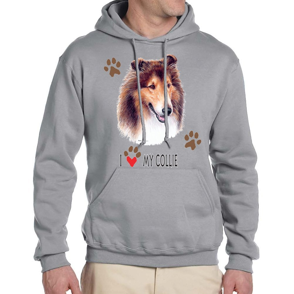 Empire Tees Adults I Love My Collie Dog Hoodie