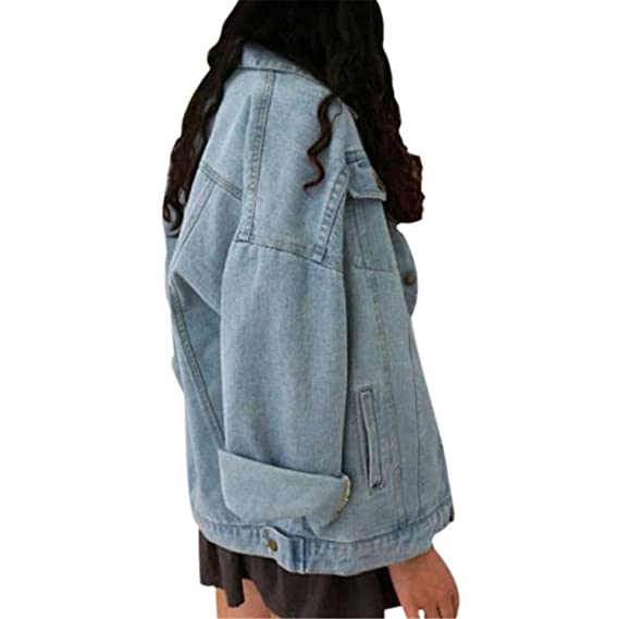 Amazon.com: Special Beauty Nice Vintage Denim Jacket Women Girl NEW Oversize Loose Female Jeans Coat Solid Slim Chaquetas Mujer: Clothing