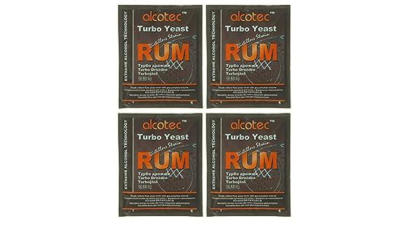 Amazon.com : Alcotec Rum Turbo Yeast (Pack of 4) : Grocery & Gourmet Food