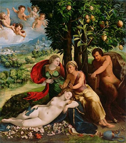 Wedding Costume Trash White Ideas (Oil Painting 'Mythological Scene,1524 By Dosso Dossi' Printing On High Quality Polyster Canvas , 18x20 Inch / 46x52 Cm ,the Best Foyer Artwork And Home Decoration And Gifts Is This)