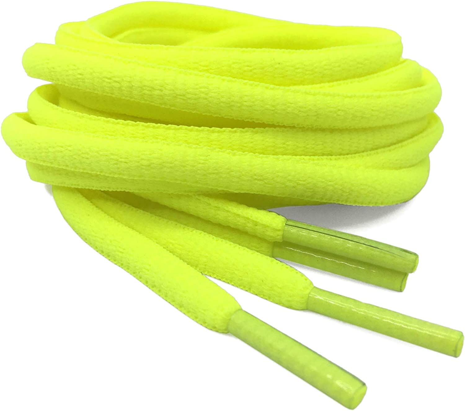 DELELE 2Pair Oval Shoes laces 42 Colors Half Round 1//4Athletic ShoeLaces for Sport//Running Shoes Shoe Strings