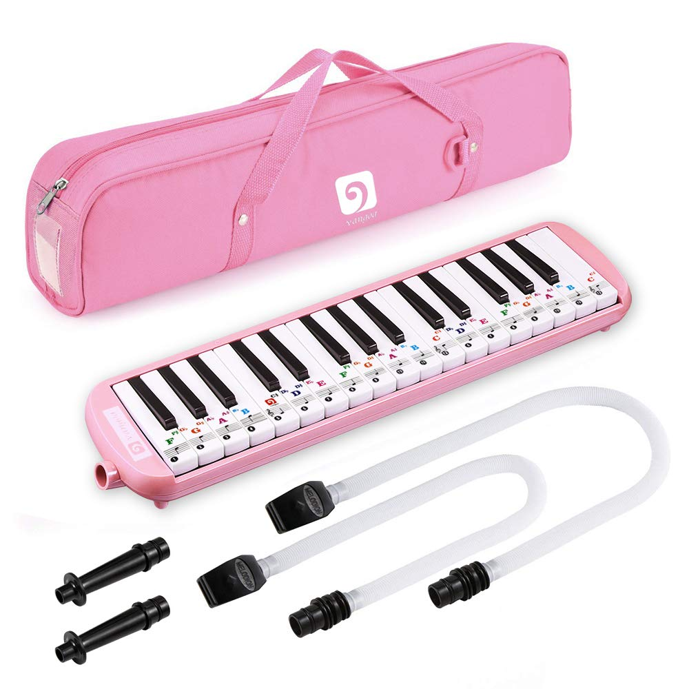 Melodica, Melodica Instrument Pink 32 Keys with Mouthpiece Premium Air Melodicas Piano Keyboard Style Portable, by Vangoa New Version] by Vangoa (Image #1)