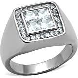 ISADY - Jaden - Men's Ring - stainless steel - Cubic Zirconia Clear