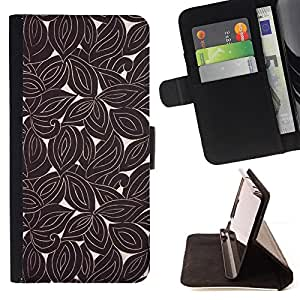 Jordan Colourful Shop - retro wallpaper pattern brown For Apple Iphone 6 - Leather Case Absorci???¡¯???€????€?????????&At