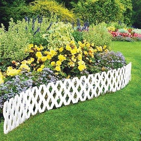 Amazing 4 Pc Outdoor Flexible Lattice Weatherproof Plastic Garden Edging Border