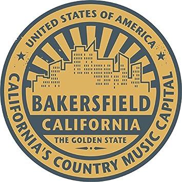 Bakersfield city usa label home decal vinyl sticker 12