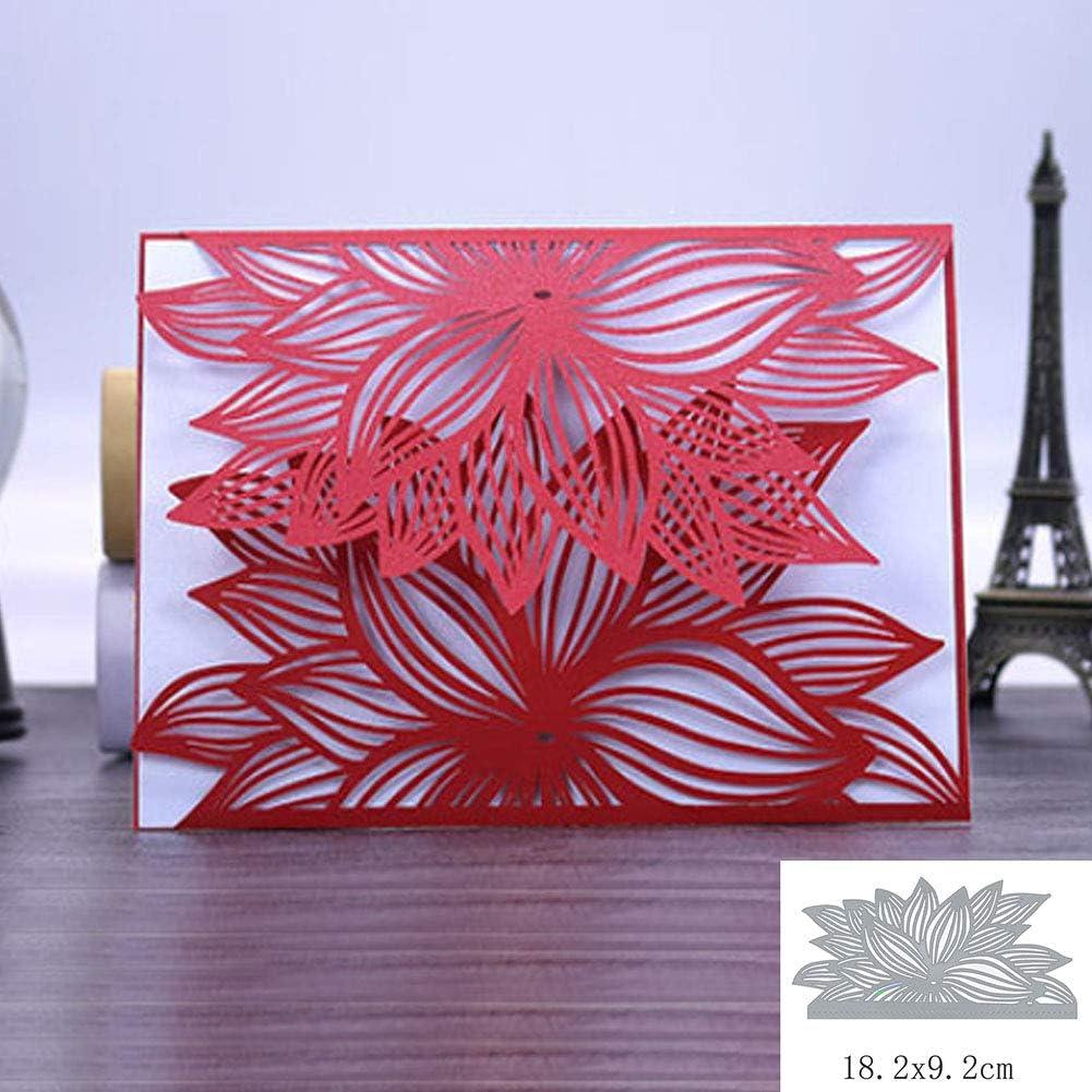 Oyov2L Leaf Flower Metal Cutting Dies DIY Scrapbooking Embossing Paper Cards Gift Craft Cards Craft Cutting Dies Handicrafts