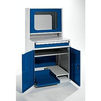 Armario de ordenador, HxWxD 1550 x 800 x 690 mm, con estante ...