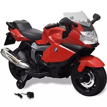 vidaXL Moto Eléctrica de Juguete Rojo Motocicleta de Juego para Niños