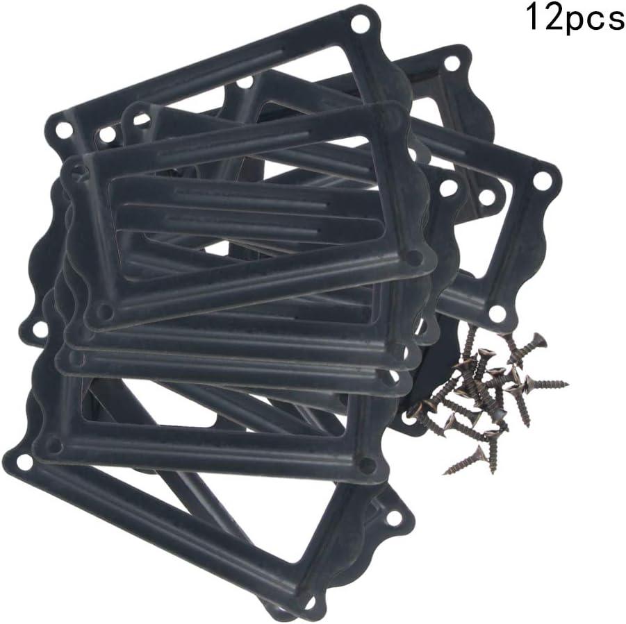 MroMax Drawer Box Case Cabinet Card 64mm x 31mm Iron Tag Label Holder Frame Black 10Pcs