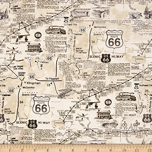 Route 66 Fabric - 1