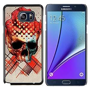 Planetar® ( Rose Cráneo Muerte Ink Tattoo del rosa rojo ) Samsung Galaxy Note 5 5th N9200 Fundas Cover Cubre Hard Case Cover