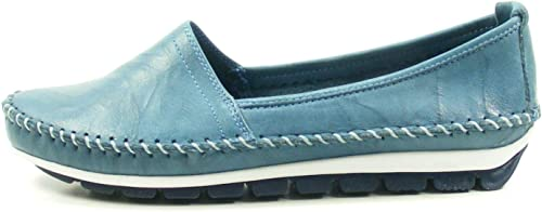 Gemini Damen Slipper 003122 01808 blau 465563