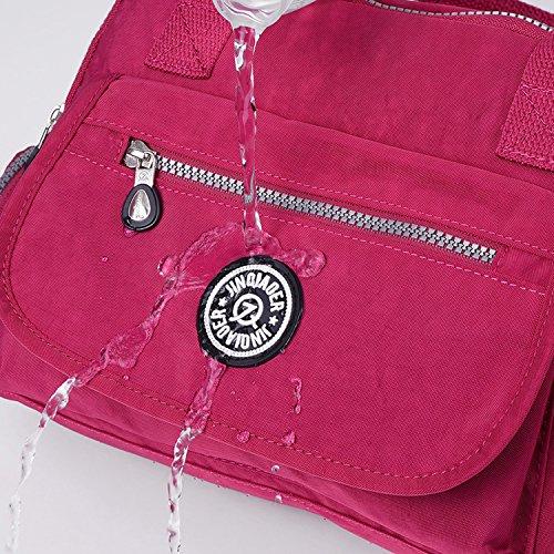 Outreo Bolso Bandolera Mujer Bolsos de Mano Bolsas de Viaje Impermeable Escolares Bolsos de Moda Ligero Bolsas de Deporte Casual Bolsos para Tablet Azul 4