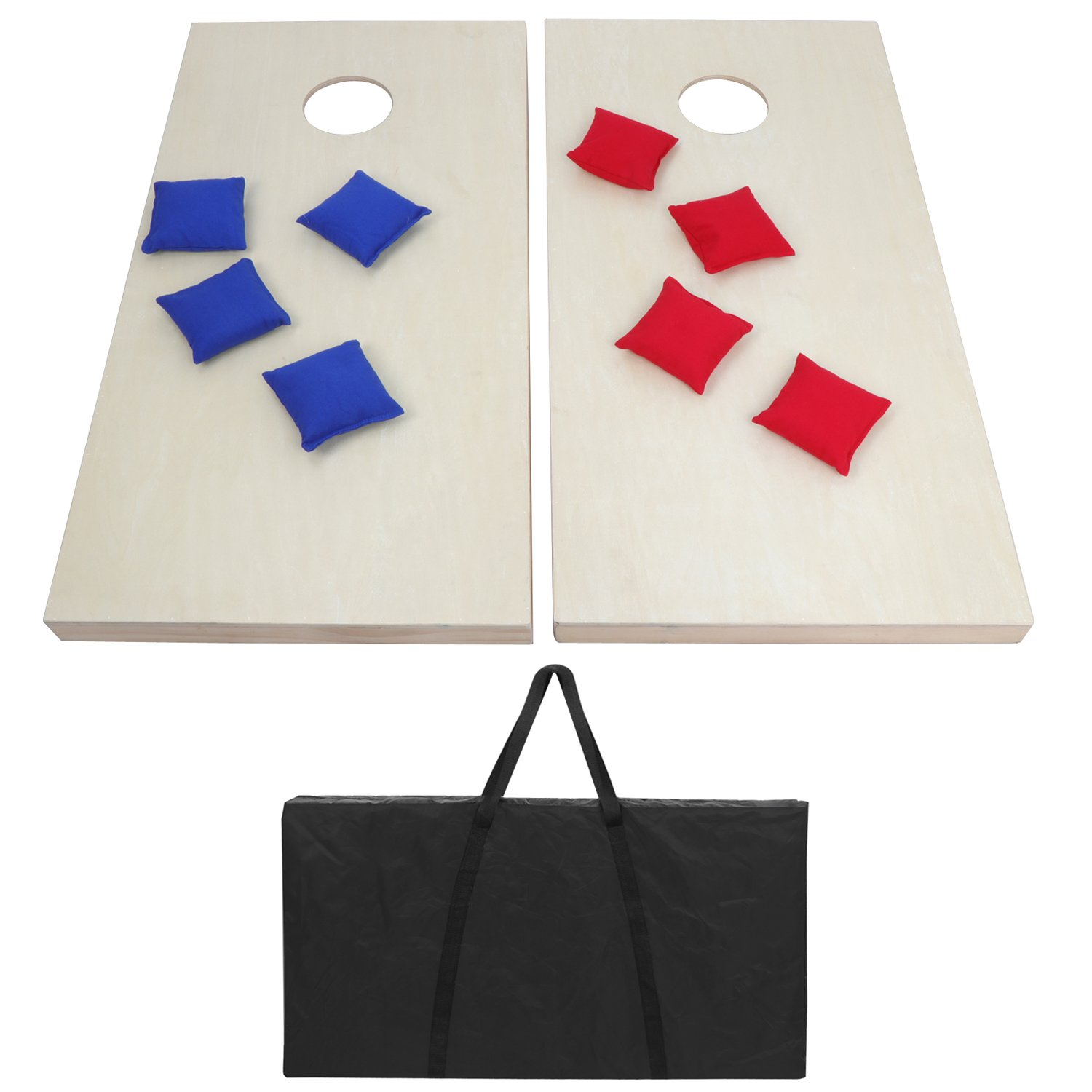 F2C Portable Aluminum/Wood/PVC Framed Bean Bag Cornhole Toss Game Set Boards 3FT2FT/4FT2FT with 8 Bean Bags and Carrying Cases Bags