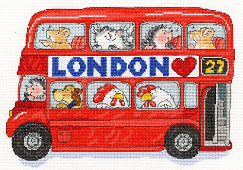 Bothy Threads London Bus Margaret Sherry Cross Stitch Kit By Xms8 (Sherry Cross Stitch Margaret)