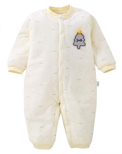 XIUBEIXING - Jumpsuit Bebé Invierno Mameluco Espesado de Algodón Suave para Infantiles Pelele Bebé Inviernos con Mangas Largas para Bebés de 12-18 Meses: ...