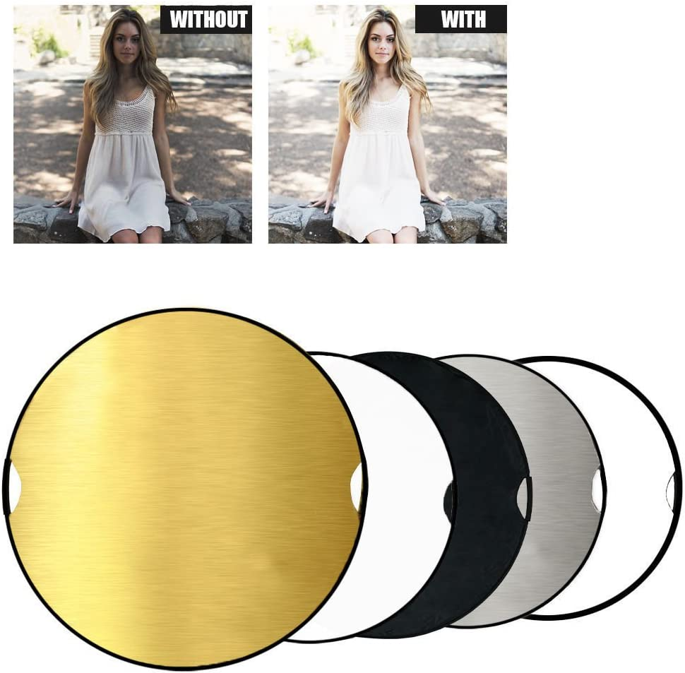 43 110cm 5 in 1 Photography Studio Multi Photo Disc Collapsible Light Reflector