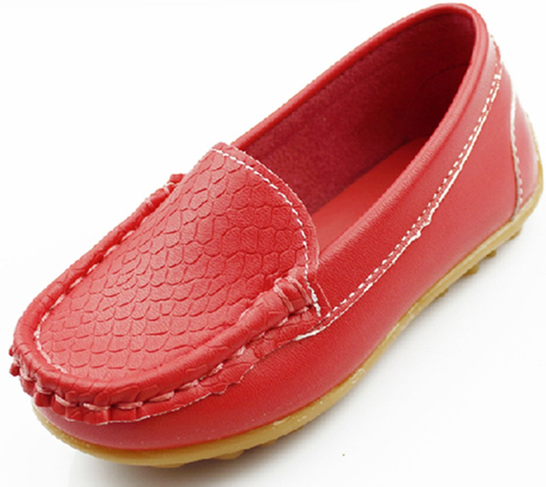 DADAWEN Mixte Enfant A-Enfiler Leather Loafer Oxford Chaussure 20471
