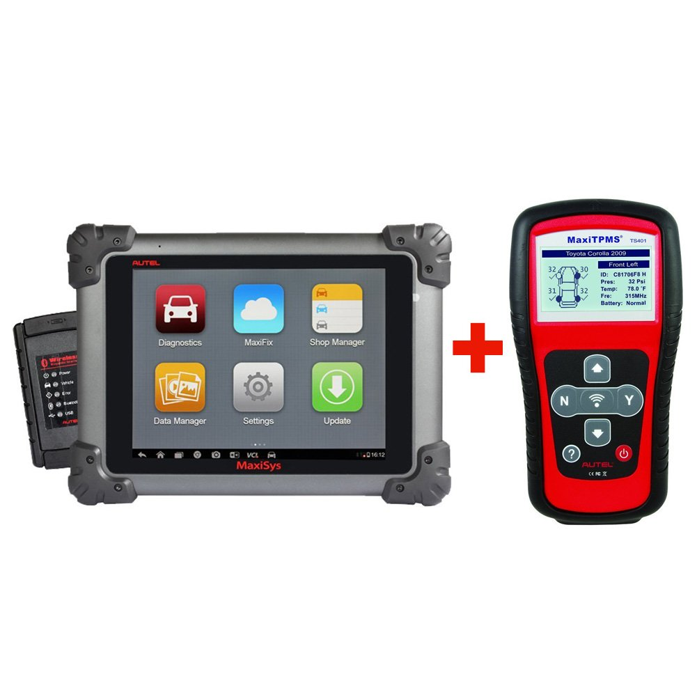 Autel Maxisys MS908+TS401–Diagnostic Tool with Specific Car ECU Coding & TPMS Diagnostics + 2 Years of Free Updates by Autel (Image #1)