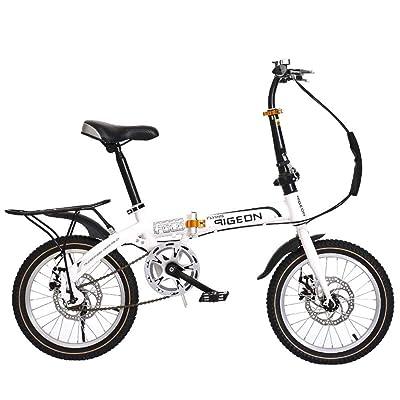 LINGS Foldable Bicycle Kids' Bikes 16 inch Children's Mountain Bike Single Speed Bike: Home & Kitchen
