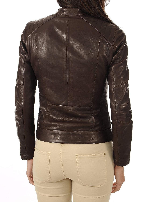 Womens Leather Jacket Stylish Motorcycle Biker Genuine Lambskin 241