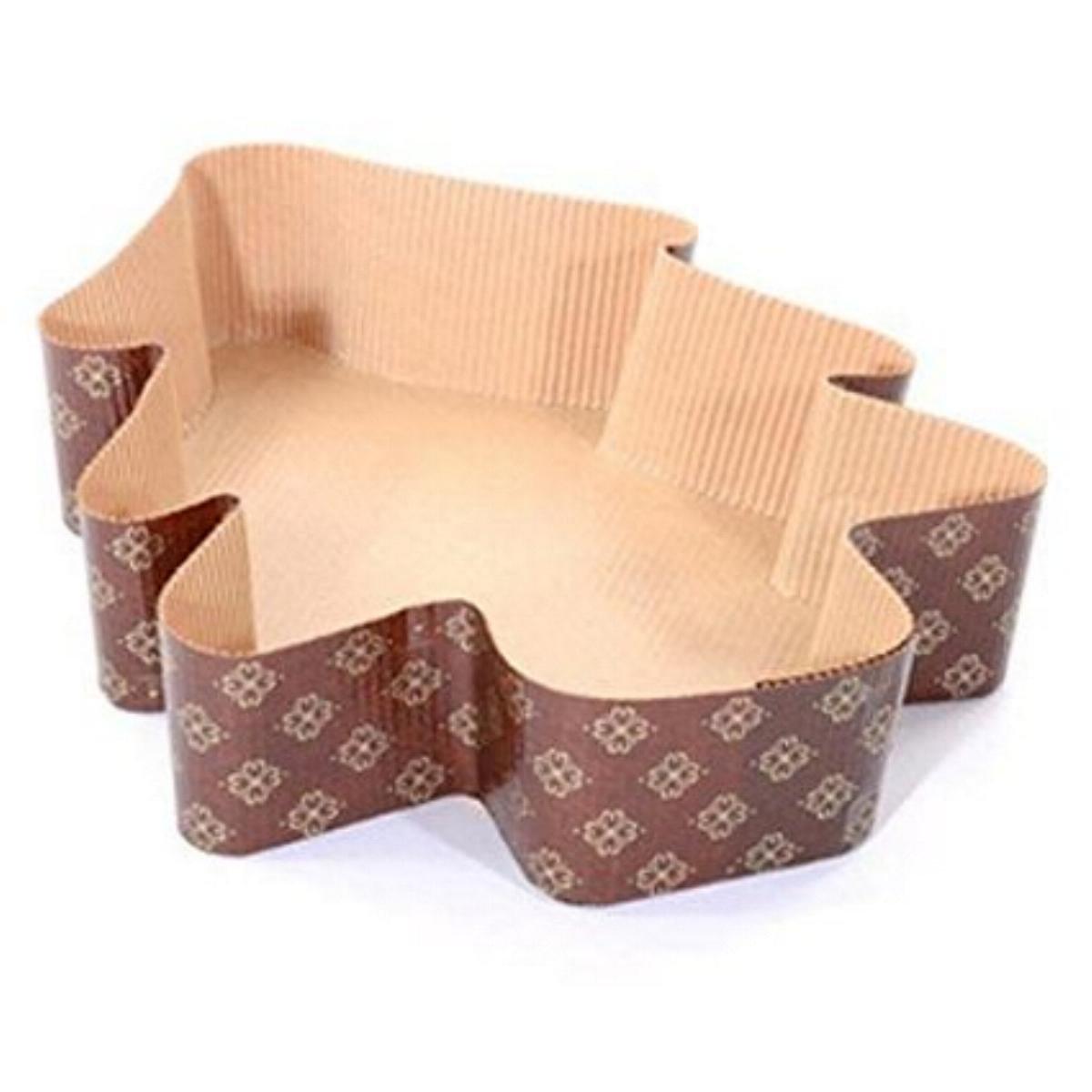 Beauty Cart Molde para panettone Árbol de Navidad de Papel Horno 6 Piezas: Amazon.es: Hogar