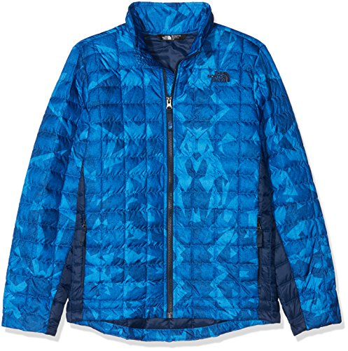 The North Face Boys Thermoball Full Zip Jacket - Turkish Sea Metric MTN Print - M