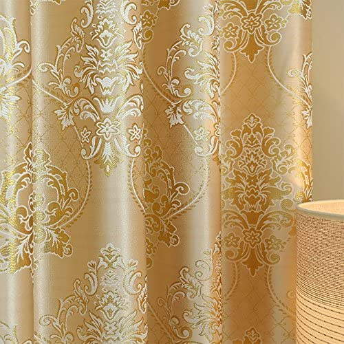 YoumeiHome Thermal insulated blackout window curtain,European printing curtains Sold per panel-L 118106inch