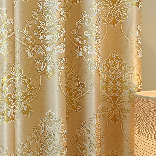 YoumeiHome Thermal insulated blackout window curtain,European printing curtains Sold per panel-E 7998inch