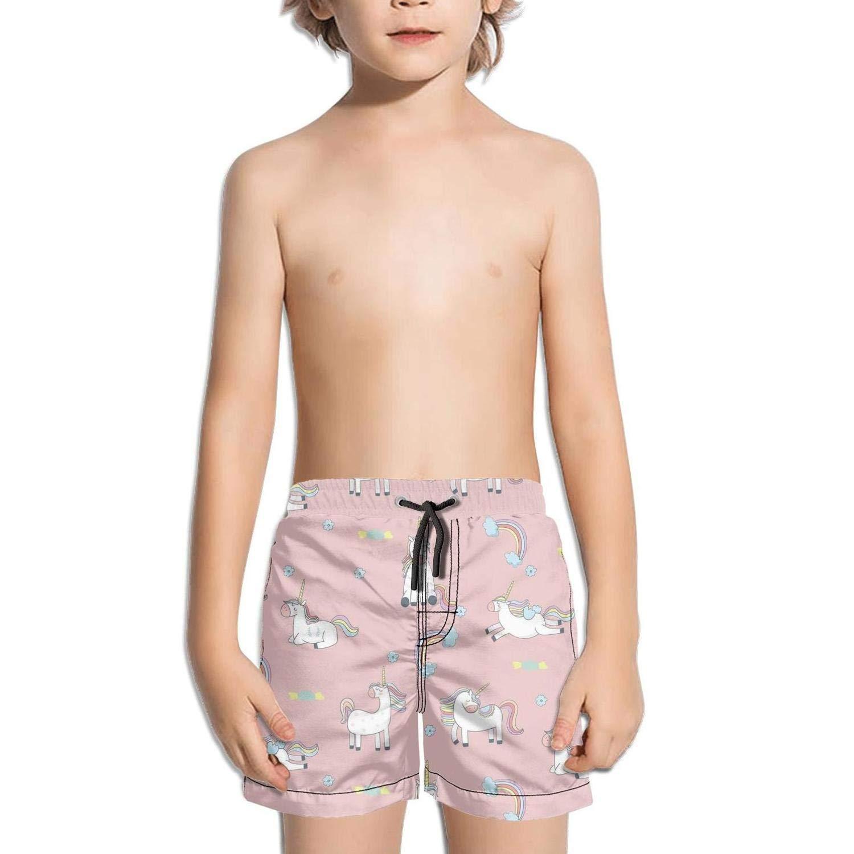 Etstk Rainbow Unicorn Kids Comfortable Shorts for Students