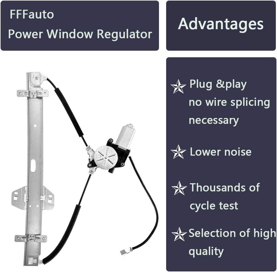 FFFauto 748-512 Window Regulator with Rear Driver Side Fit for Honda Pilot 2003-2008 OEM 72750S9VA01; 72750S9VA02; 212-0051; 384972; 88534; WPR1028LMB