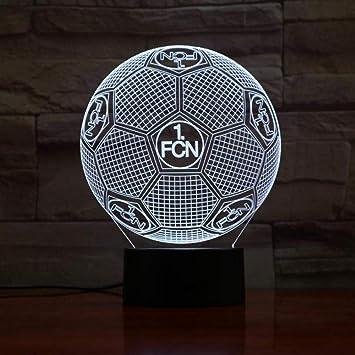Fussball Fussball Team Logo 3d Led Lampe 7 Farben Die Fernberuhrungssteuerung Usb Geschenk Andern