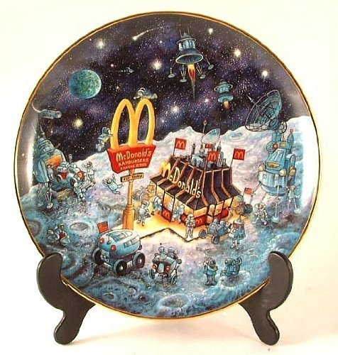 McDonald's Franklin Mint Bill Bell Plate - Golden Dreams - CP958 (Franklin Mint Bill Bell Plate)
