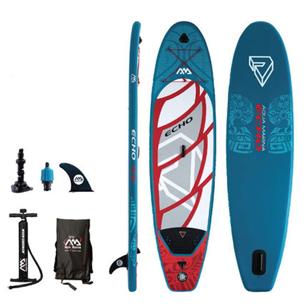 bluee XIAONA South Korea Imported Material SUP Paddle Board Water Ski Surf Paddle, bluee Water Recreation Inflatable Boat