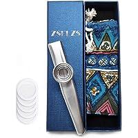 Metalen kazoo met een mooie geschenkdoos, mini-muziekinstrument voor kinderen en volwassenen. zilver