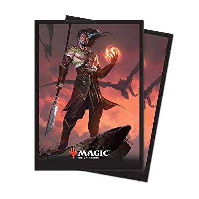 """Ultra Pro Magic: The Gathering Core Set 2020 \""""Sarkhan, Fireblood Deck Protector Sleeves (80 Count): Toys & Games [5Bkhe1405501]"""