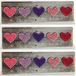 Reclaimed wood rustic string art Primrose Hearts - A unique gift for Baby girls, Weddings, Anniversaries, Birthdays, Valentine's Day, Christmas,House Warming and nurseries.
