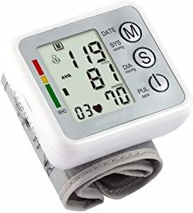 LQUIDE Wrist Blood Pressure Monitor With LCD,Accurate Bp Meter Cuff For Home Travel Use, Automatically Portable Electric,2 User Memory Electric Sphygmomanometer