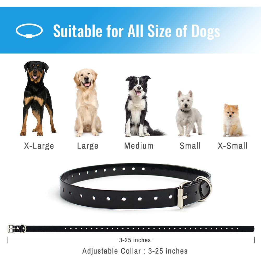 Petrainer PET998DBB 100% Waterproof Dog Shock Collar with Remote Dog Training Collar with Beep/Vibra/Shock Electric E-collar, 300yd Range by Petrainer (Image #6)